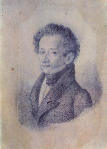 Giacomo Lepardi - Portrait von L. Lolli